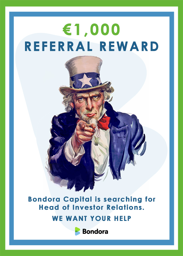 Bondora Capital searching for Head of Investor Relations Poster