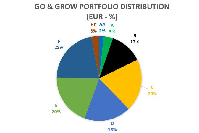 Go & GROW POrtfolio distribution