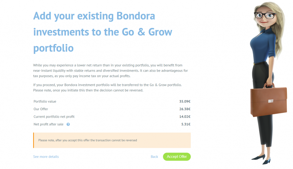 Go & Grow add existing investments
