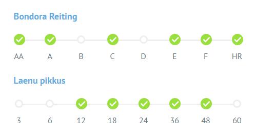 Portfolio Pro reiting laenu pikkus