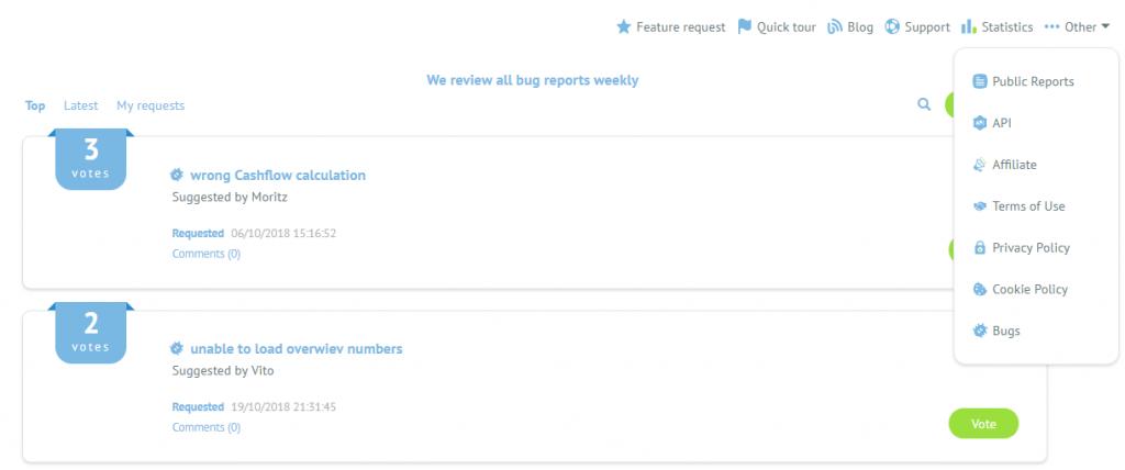 Submit bug report - Bondora