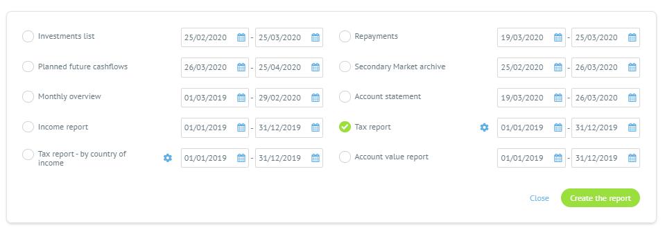Tax report - Bondora