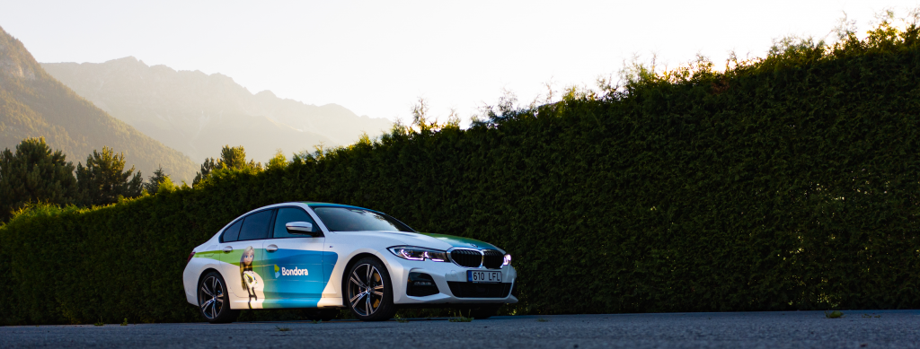 The Bondora BMW was transported all the way from Tallinn, Estonia to Tyrol, Austria. That's over 2,000km!