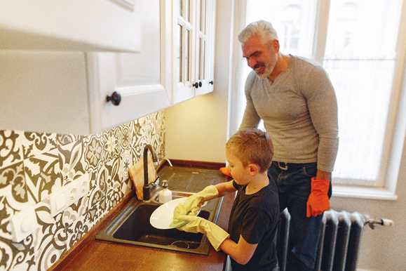 By completing chores for their allowance, children learn the importance of working hard.