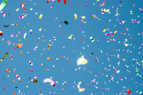 Bring out the confetti. It's time to celebrate all the good news!