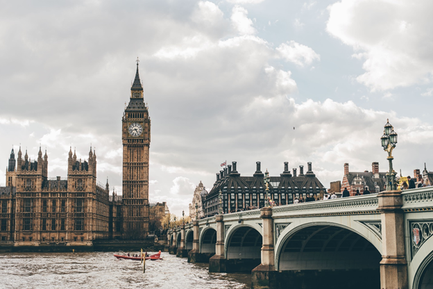 London – the capital of England and the hub for 90% of the UK's fintech funding.