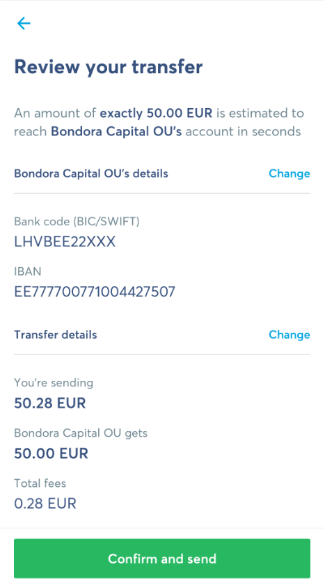 You can find the exact payment details by clicking on the green Invest button in your account.