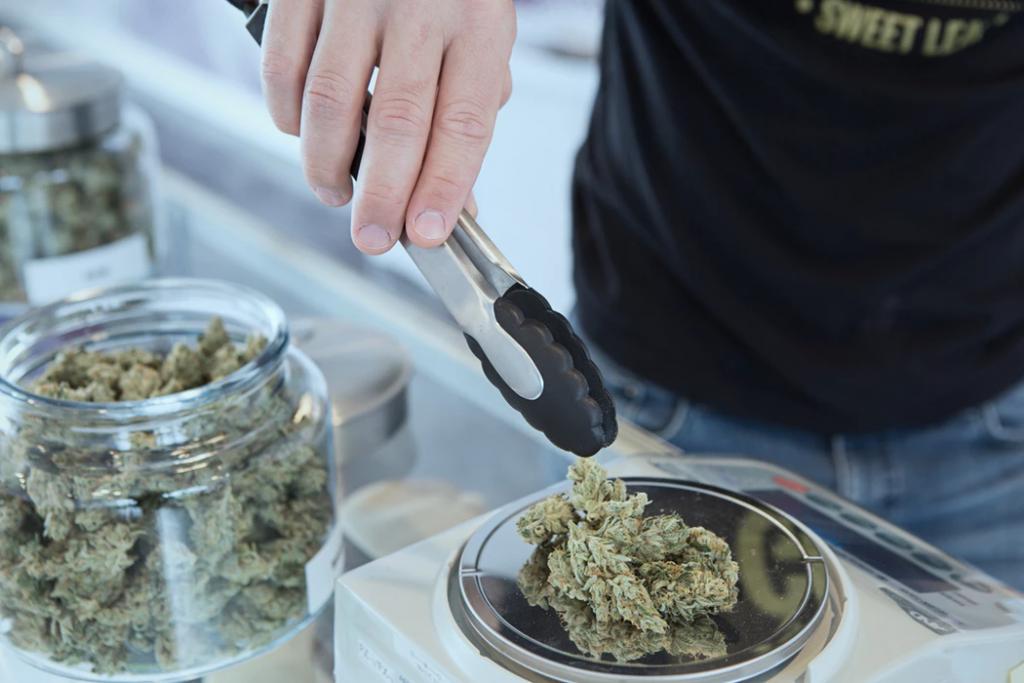 Industrielandschaft von Marihuana