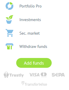 Add and withdraw funds from Bondora